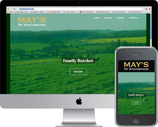 Mobile Responsive website for May's Butchers