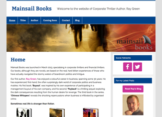 New website for Mainsail Books